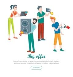 Supermarket Sale Banner Household Appliances vector image