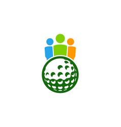 team golf logo icon design vector image