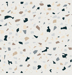 terrazzo seamless pattern flooring abstract marble vector image