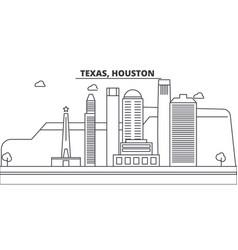 Texas houston architecture line skyline vector