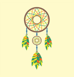 tribal decoration bohemian dreamcatcher boho vector image