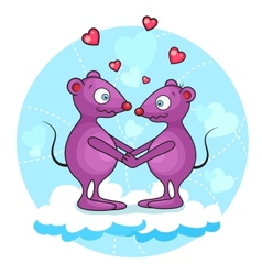 Valentine mouse vector