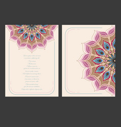 Vintage colorful template vector