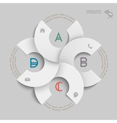 White round design template for infographics vector image