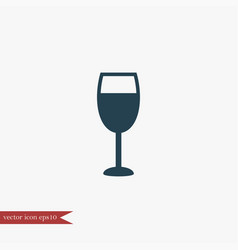 wine glass icon simple vector image vector image