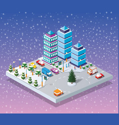 winter christmass city vector image