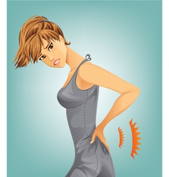 Woman suffering from backache vector