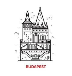 budapest landmark icon vector image