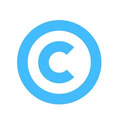 copyright symbol sign flat icon vector image