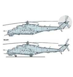 helicopter mi24 vector image