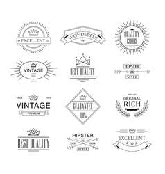 Label and Vintage Premium Quality Collection vector image
