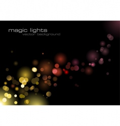 magic lights vector image vector image