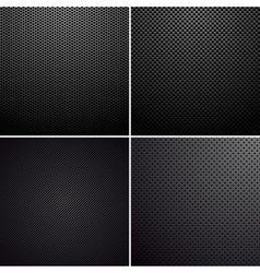 Metal-carbon textures vector image