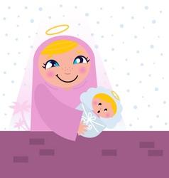 nativity bethlehem scene vector image
