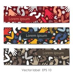 Set of three decorative cards vector image
