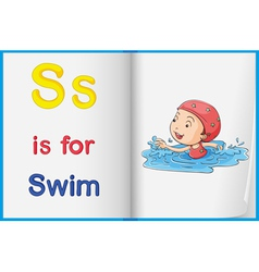 Swimming child vector image vector image