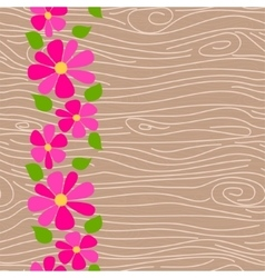 Wood texture seamless pattern vector image vector image