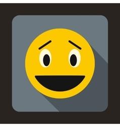 Confused emoticon icon flat style vector image vector image