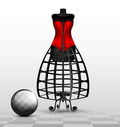 dummy and red corset vector image vector image