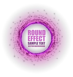 fireworks circle purple white with text vector image vector image