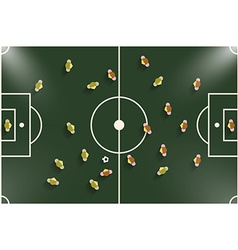 Football - Soccer Field Night or Evening Match Top vector image vector image