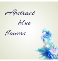 Abstract background with light blue abstract vector image vector image