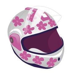 cartoon of sport helmet for roller vector image vector image