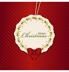 Christmas present label red vector image