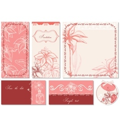 retro floral backgrounds vector image vector image