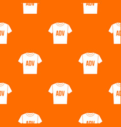t-shirt with print adv pattern seamless vector image vector image