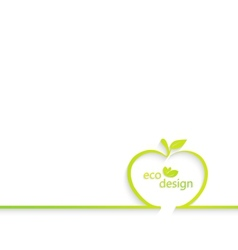 Background with apple outline Can be used for vector image
