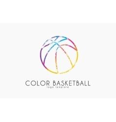 Basketball ball logo Basketball sport Ball logo vector image vector image