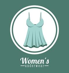 Underwear design vector image