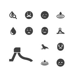 13 aqua icons vector