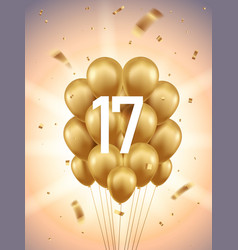 17th year anniversary background vector image