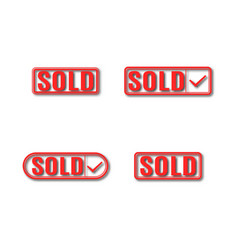 a set of label sold vector image