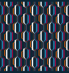 abstract geometric seamless pattern simple wavy vector image