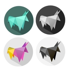 abstract Origami bull vector image