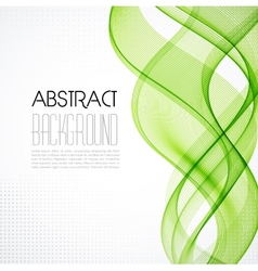 Abstract transparent green wave background vector