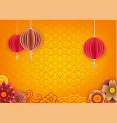 Abstract yellow background for chinese new year vector