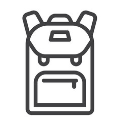 Backpack line icon education and school vector