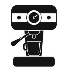 Bar coffee machine icon simple style vector