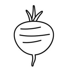 beetroot icon outline style vector image