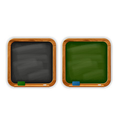black and green square school blackboards vector image