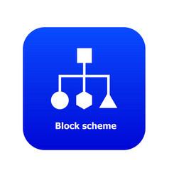 Block scheme icon blue vector