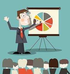 Business Man - Teacher vector image