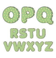 Cactus alphabet from O to Z vector