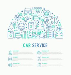 car service concept in half circle vector image