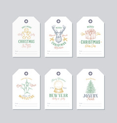 Christmas and new year ready-to-use pastel colour vector