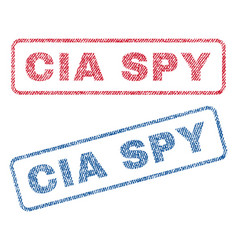 Cia spy textile stamps vector